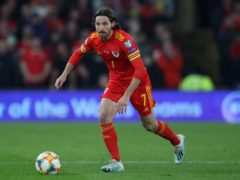 Joe Allen will miss Wales' World Cup qualifier against the Czech Republic after his injury against Belgium (Nick Potts/PA Images).