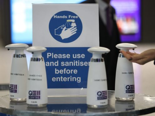 Hand sanitisers and hygiene were big business in the pandemic (Philip Toscano/PA)