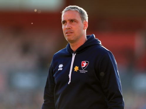 Michael Duff's side are top of League Two (Mike Egerton/PA)