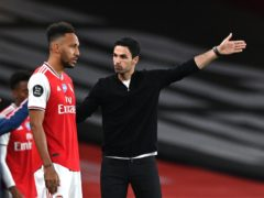 Mikel Arteta (right) dropped Arsenal captain Pierre-Emerick Aubameyang for the win over Tottenham (Shaun Botterill/NMC Pool/PA)