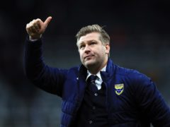 Oxford manager Karl Robinson was full of praise for his goalkeeper (Owen Humphreys/PA).