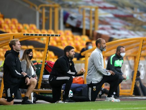 Wolves manager Nuno Espirito Santo will continue to take a knee (Catherine Ivill/PA)