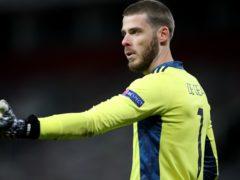 David de Gea is unlikely to face West Ham (Nick Potts/PA)