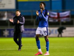 Joshua Kayode is doubtful for Carlisle (Barrington Coombs/PA)