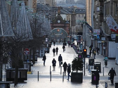Shops are due to re-open on Scotland's high streets from April 26 (Andrew Milligan/PA)