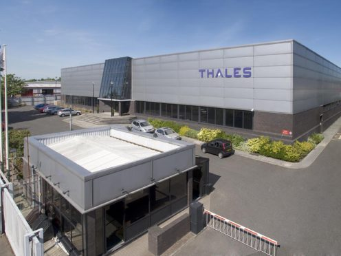 Thales in Northern Ireland employs hundreds of people in the defence and space sectors (Thales/PA)