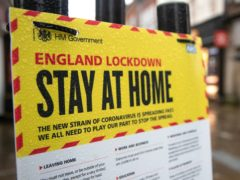 The UK economy suffered a steeper contraction during the first coronavirus lockdown but bounced back more strongly than first thought at the end of 2020, according to official figures (Andrew Matthews/PA)