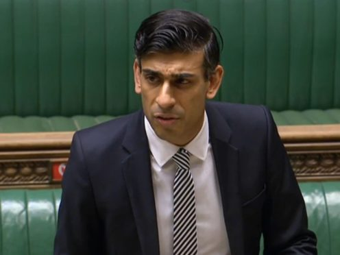 Chancellor of the Exchequer Rishi Sunak (PA Wire)