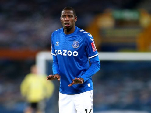 Everton midfielder Abdoulaye Doucoure could miss up to 10 weeks with a broken bone in his foot (Peter Byrne/PA