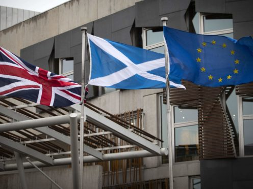 A poll for Scotland on Sunday found 52% of voters with an opinion would vote to remain part of the UK (Jane Barlow/PA)