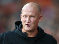 Simon Grayson saluted his Fleetwood players for the win over Gillingham (Nigel French/PA)