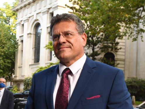 EU Commission vice president Maros Sefcovic (PA)