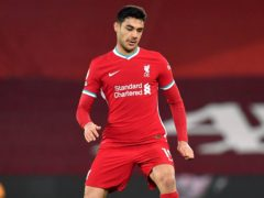 Ozan Kabak is expected to be missing for Liverpool (Paul Ellis/PA)