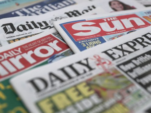 What the papers say – March 5 (Andrew Matthews/PA)
