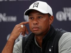 Tiger Woods has expressed his gratitude for the 'touching' gesture of players wearing his signature red and black (Richard Sellers/PA)