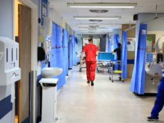 An NHS hospital ward (Peter Byrne/PA)