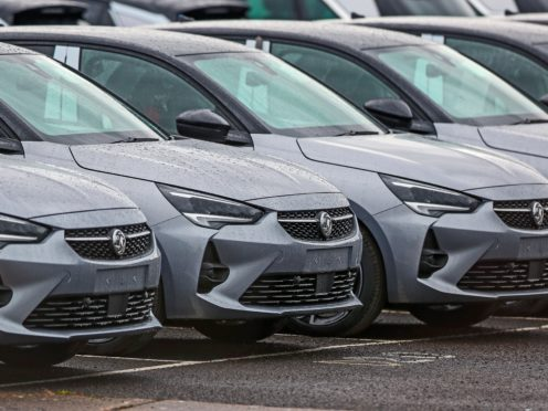 Demand for new cars fell by 36% last month compared with February 2020, preliminary figures show (Peter Byrne/PA)