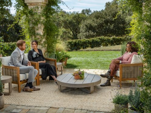 The Duke and Duchess of Sussex's Oprah Winfrey interview will be screened on ITV (Harpo Productions/Joe Pugliese/PA)