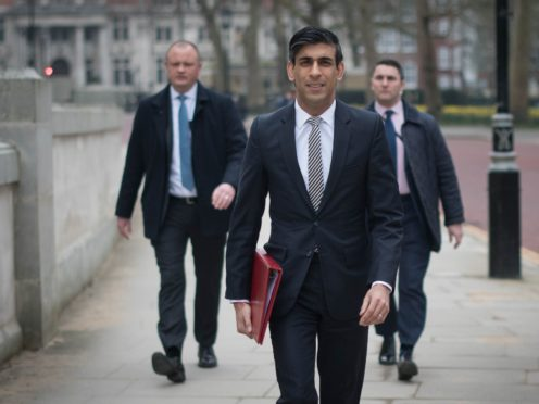 Chancellor of the Exchequer Rishi Sunak (Stefan Rousseau/PA)