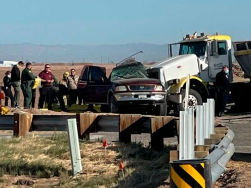 The scene of a deadly crash in Holtville (KYMA via AP)