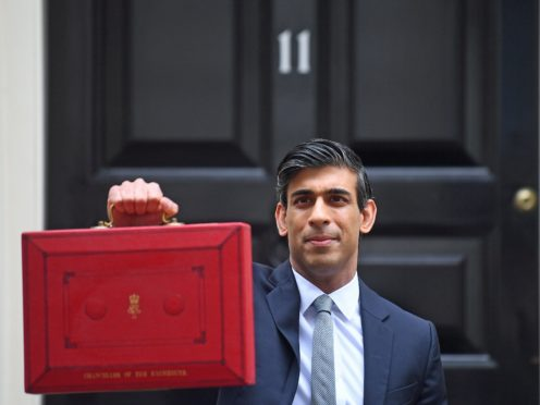 Chancellor Rishi Sunak sets off to make his Budget statement (Victoria Jones/PA)