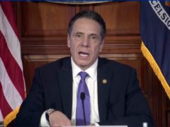 In this image taken from video from the Office of the NY Governor, New York Governor Andrew Cuomo speaks during a news conference (Office of the NY Governor via AP)