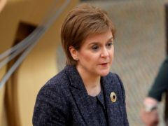 Nicola Sturgeon has hit out at the gathering of Rangers fans at Ibrox and George Square (Russell Cheyne/PA)