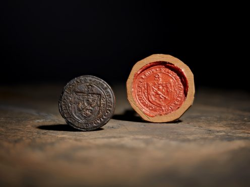 The rare 16th century seal that has been out of public view for more than a century was bought at auction on Tuesday (Alex Robson/Lyon & Turnbull/PA)