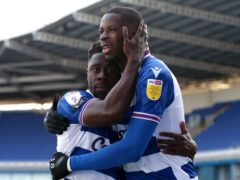 Lucas Joao (right) celebrates scoring Reading's second goal (Jonathan Brady/PA)