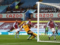 Romain Saiss missed from close range in Wolves' draw at Aston Villa (Catherine Ivill/PA)