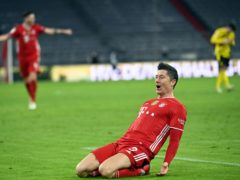 Robert Lewandowski's treble saw Bayern Munich emerge victorious from a thrilling Der Klassiker (Sven Hoppe/Pool via AP/AP/Press Association Images)
