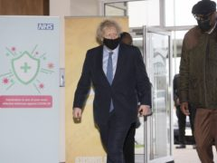 Prime Minister Boris Johnson spoke about schools returning during a visit to a vaccination centre in north London (Geoff Pugh/Daily Telegraph/PA)