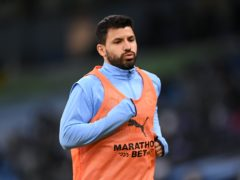 Sergio Aguero is hoping to start for Manchester City against Southampton (Laurence Griffiths/PA)