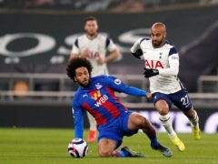Lucas Moura (right) impressed in Tottenham's 4-1 win over Crystal Palace (John Walton/PA)