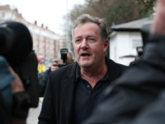 Piers Morgan speaks to reporters outside his home in Kensington, central London (Jonathan Brady/PA)