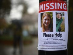 A missing sign outside Poynders Court on the A205 in Clapham (Victoria Jones/PA)