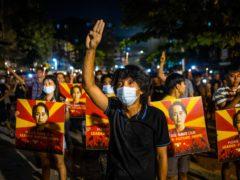 Protests in Yangon, Myanmar (PA)