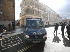 A police van arrives at Westminster Magistrates' Court, in London, where serving police constable Wayne Couzens is to appear charged with murder and kidnapping related to the death of Sarah Everard. Picture date: Saturday March 13, 2021.