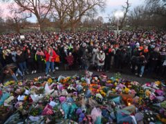 People gather at the band stand in Clapham Common (Victoria Jones/PA)