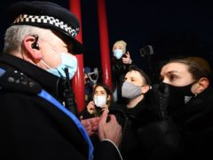 The Metropolitan Police have been backed over their handling of the Sarah Everard vigil (Victoria Jones/PA)