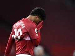 Marcus Rashford could miss the FA Cup tie with Leicester (Peter Powell/PA)
