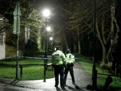 Metropolitan Police cordon at The Rope Walk in Sandwich (PA)