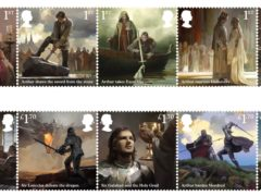 A set of stamps telling the legend of King Arthur has been issued by Royal Mail (Royal Mail/PA)