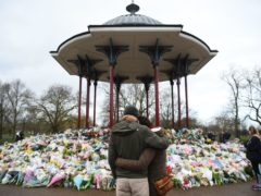 Floral tributes left at the bandstand in Clapham Common (Kirsty O'Connor/PA)