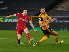 Liverpool's Diogo Jota scored the winner on his return to Wolves (Paul Ellis/PA)
