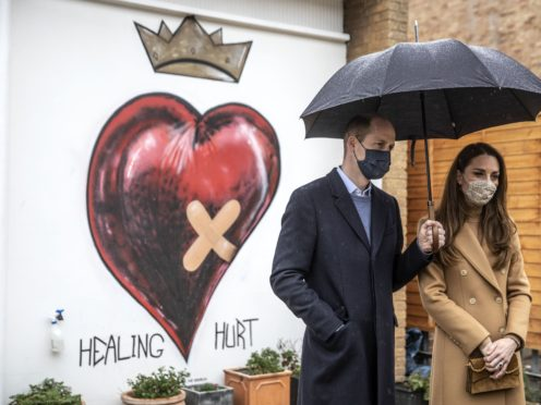 The Duke and Duchess of Cambridge during a visit to Newham ambulance station in east London (Richard Pohle/The Times/PA)