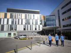 The main entrance to the new Royal Hospital for Children and Young People Edinburgh (Jane Barlow/PA)