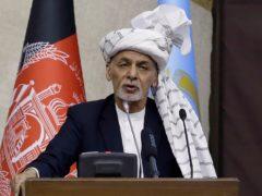 Afghan president Ashraf Ghani (AP)