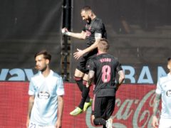 Karim Benzema scored twice as Real Madrid won their LaLiga trip to Celta Vigo (Lalo R Vilar/AP)