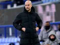 Manchester City manager Pep Guardiola is going to take a few days off following the FA Cup quarter-final win at Everton (Jon Super/PA Images).